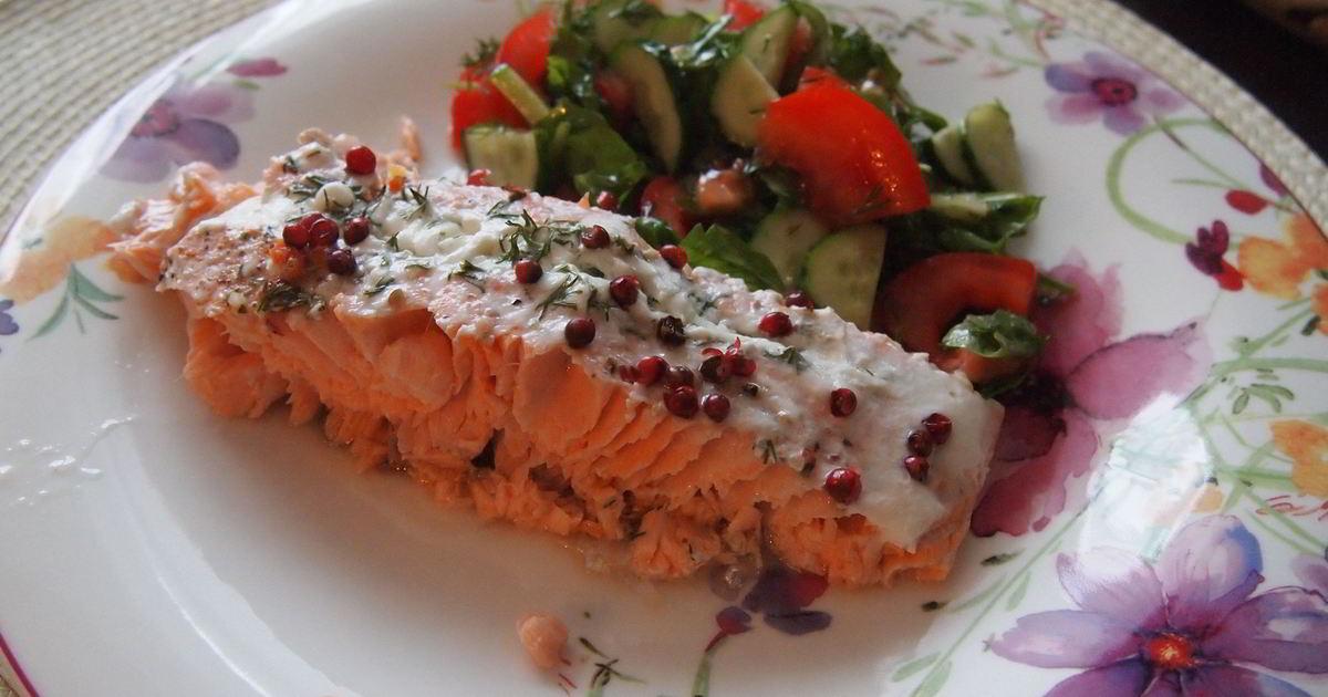 пошаговые рецепты с фото запеченный лосось настоящую атмосферу